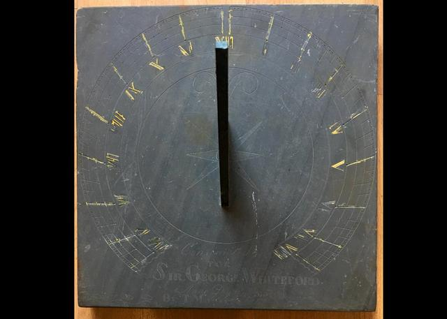 Antique Limestone Sundial
