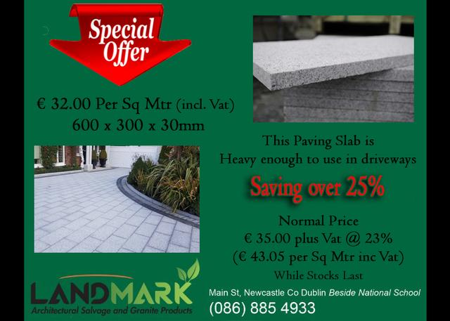 30mm Granite Paving Special