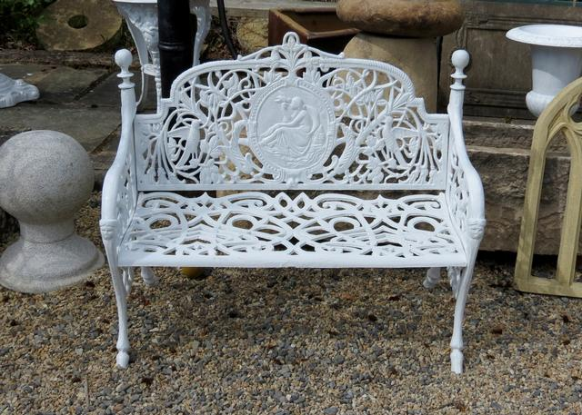 Lady Cast Iron Bench Small