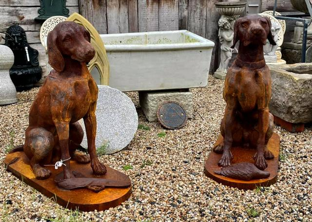 Rusty Sitting Dogs