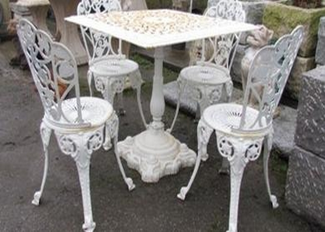 Cast Iron Table and Chairs - Offer €480