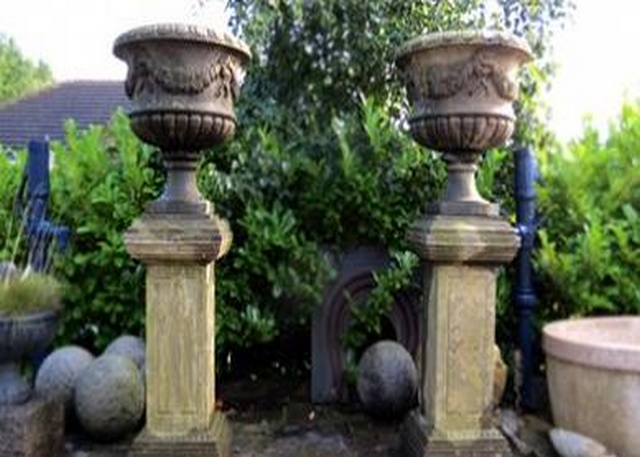 Decorative Limestone Urns