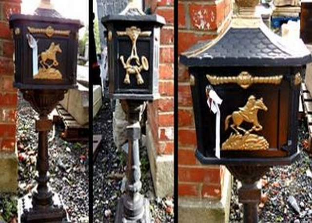 Free standing cast iron post boxes