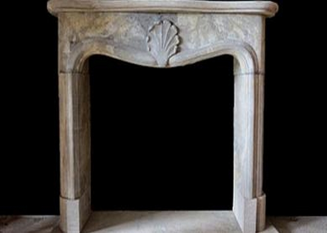 Limestone Grey Fireplace