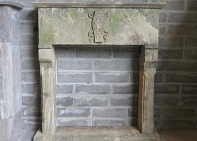 Limestone Decorative Fireplace
