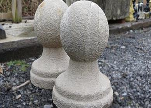 Natural Limestone Ball and Finial