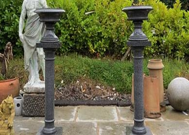 Polished Granite Urn on Pillar