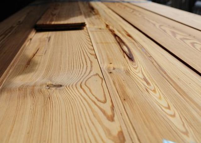 Pitch pine flooring