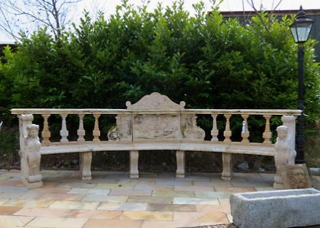Travertine Bench