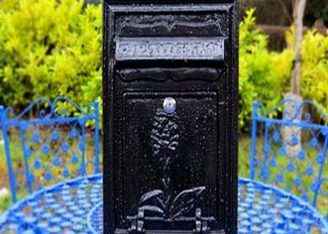 Wall Mounted Cast Iron Post Box